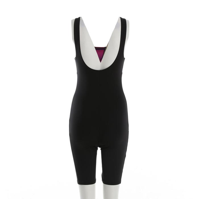 Women's Aquafitness One-Piece Jammer Swimsuit - Black Blue