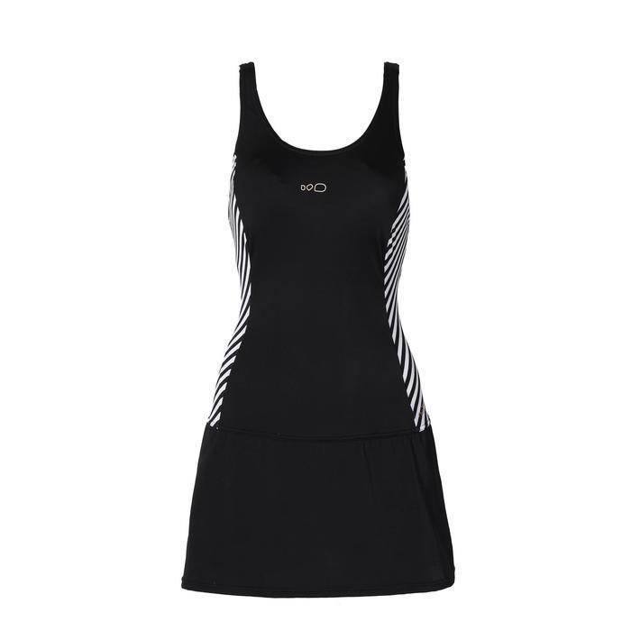 女款連身群泳裝Vega-黑色