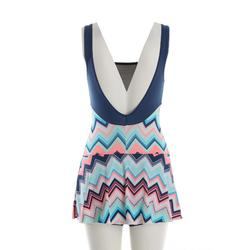 Loran女款一件式連身裙泳裝 - 歐盟藍