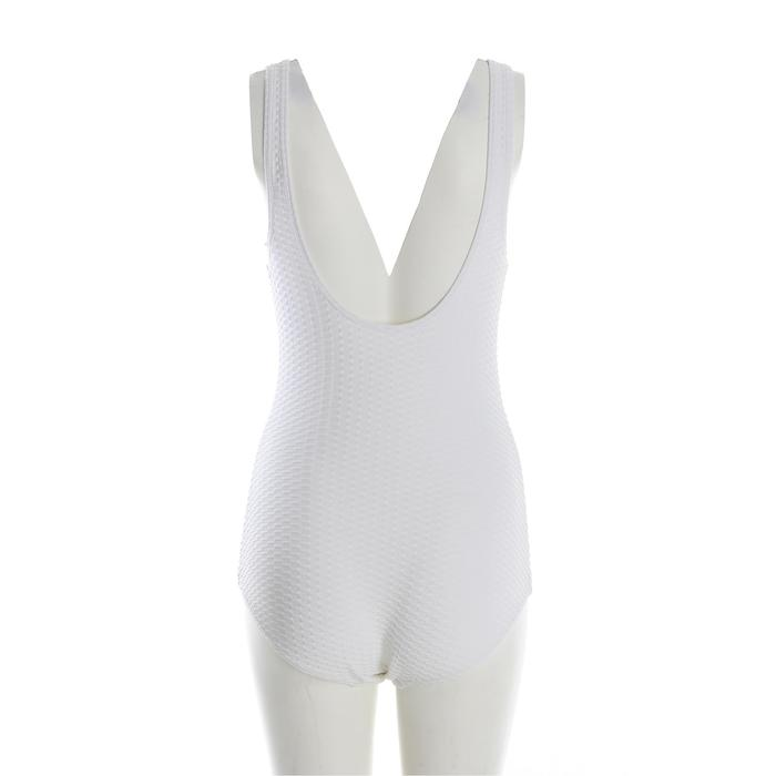 Kaipearl Women's Body-Sculpting One-Piece Swimsuit – White