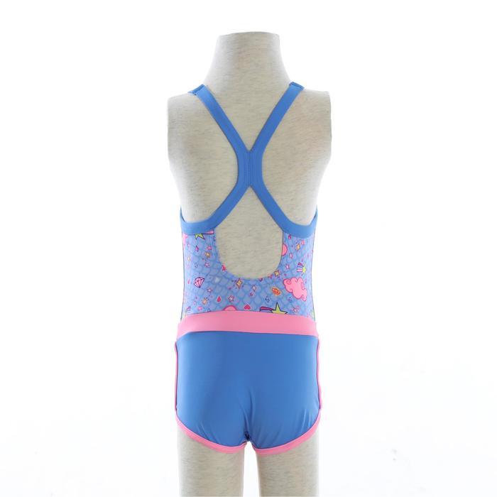 Debo Girls' One-Piece Shorty Swimsuit - Diam Blue