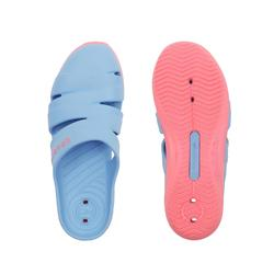 女款泳池拖鞋SCU 100-淺藍色
