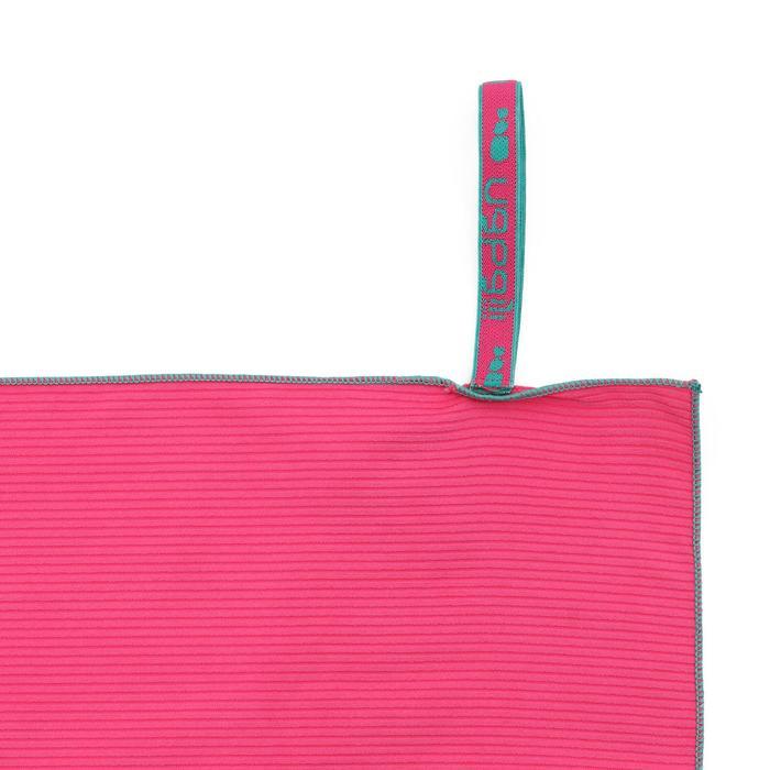 Mikrofaser-Badetuch L gestreift rosa
