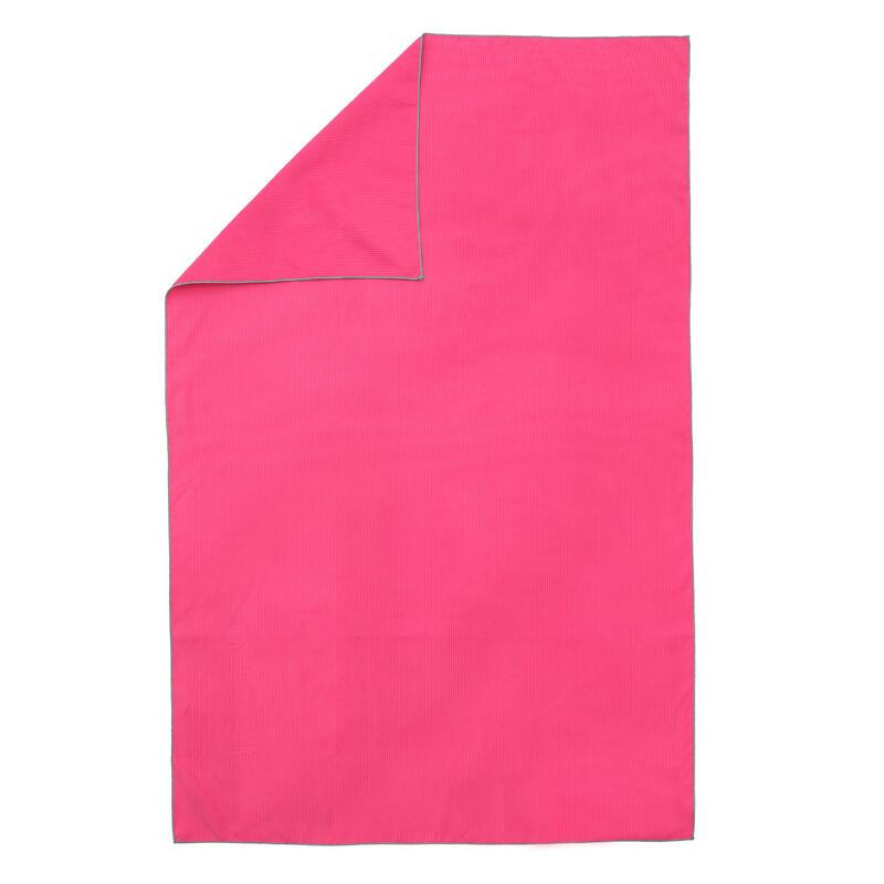 Toalla Microfibra Rosa Rayas Talla L 80 x 130 cm