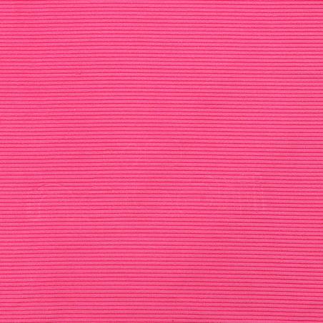 Microfibre striped towel size L 80 x 130 cm - Pink