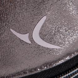 Pochette argentée de danse multi-compartiments pour chaussons