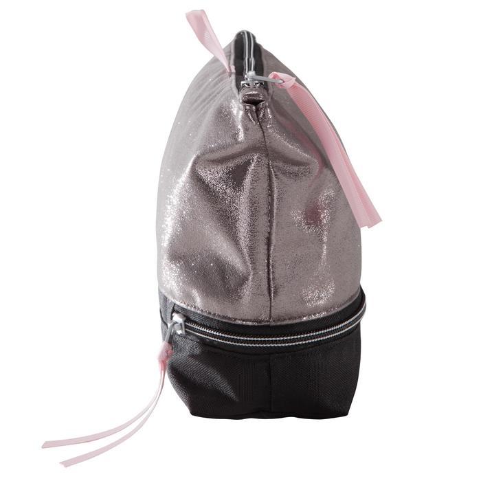 Tasje met meerdere vakken voor balletschoentjes zilverkleurig