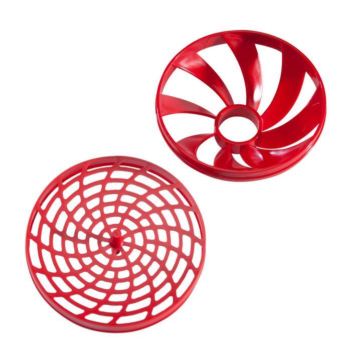 Shaker 500ml grau/rot