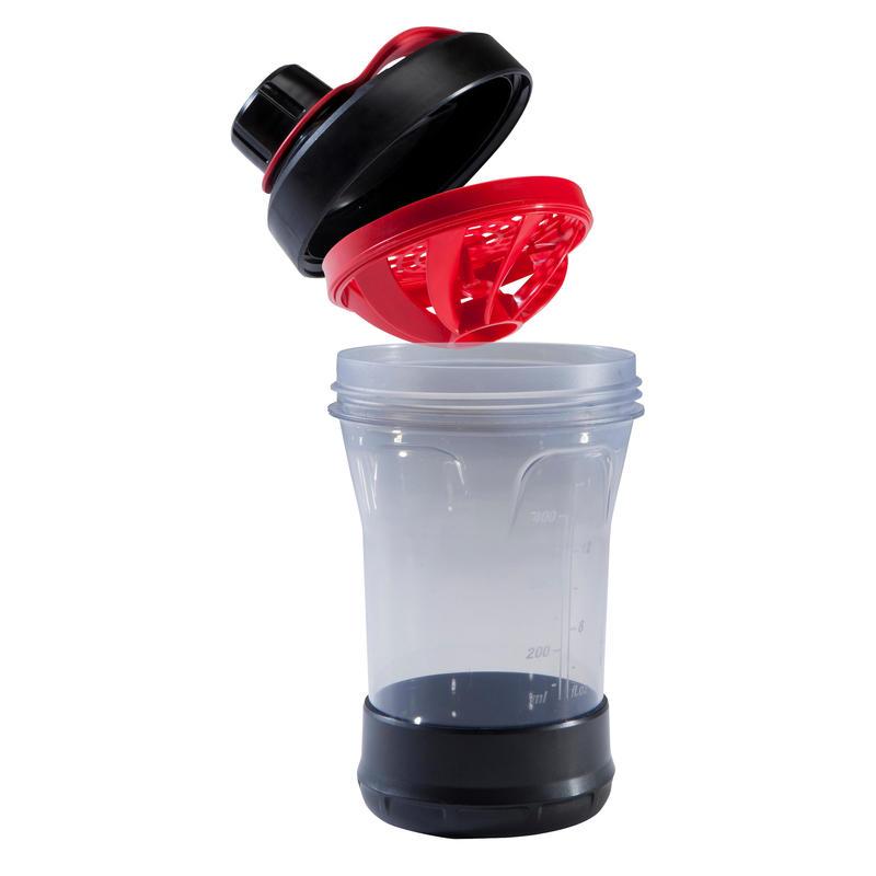 Shaker 500 ml - Black/Red