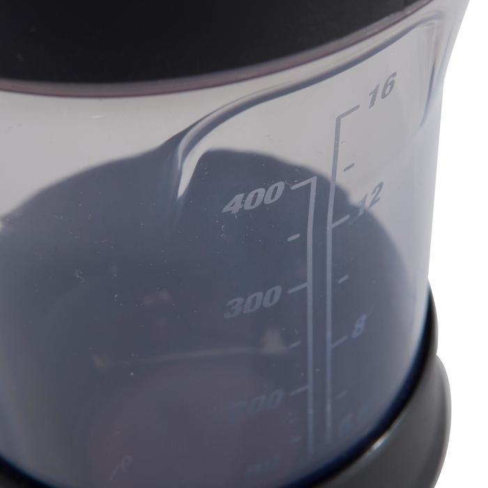 SHAKER MUSCULACIÓN DOMYOS NEGRO/ROJO 500 ml
