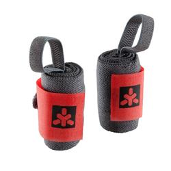 Weight Training Protection Wrist Wraps with Rip-Tab Cuff - Red