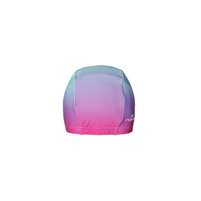 網眼泳帽,L號/天空粉色印花
