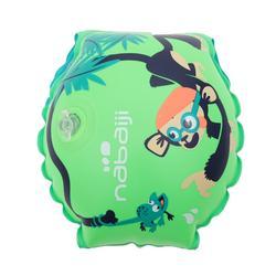兒童游泳臂章- 猴子印花綠色