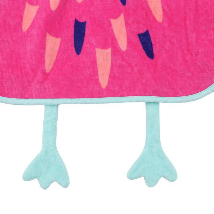 嬰兒換衣斗篷搭配粉紅色帽子-火鶴色