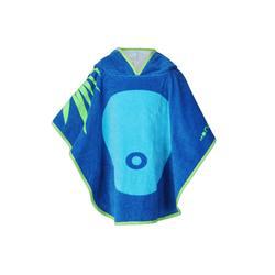 兒童連帽浴袍 藍色猴子造型印花