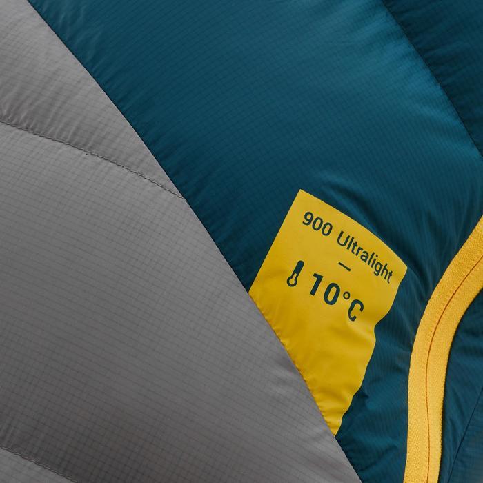 Saco de dormir de trekking TREK900 10° pluma azul