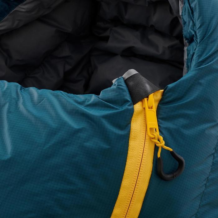 Sac de couchage de trekking TREK900 10° plume bleu