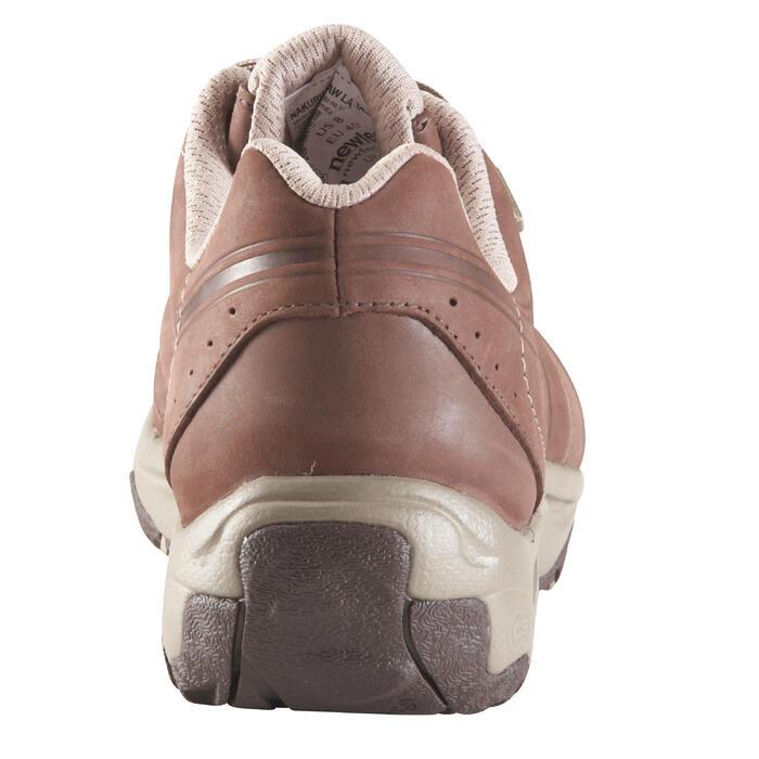 Chaussures marche sportive femme Nakuru Novadry cuir marron / beige