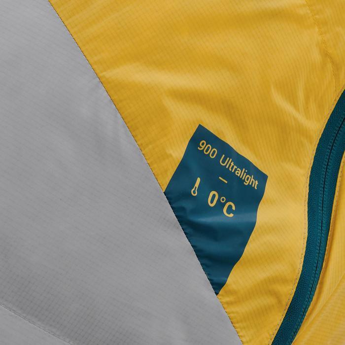 Sac de couchage de trekking TREK900 0° plume jaune