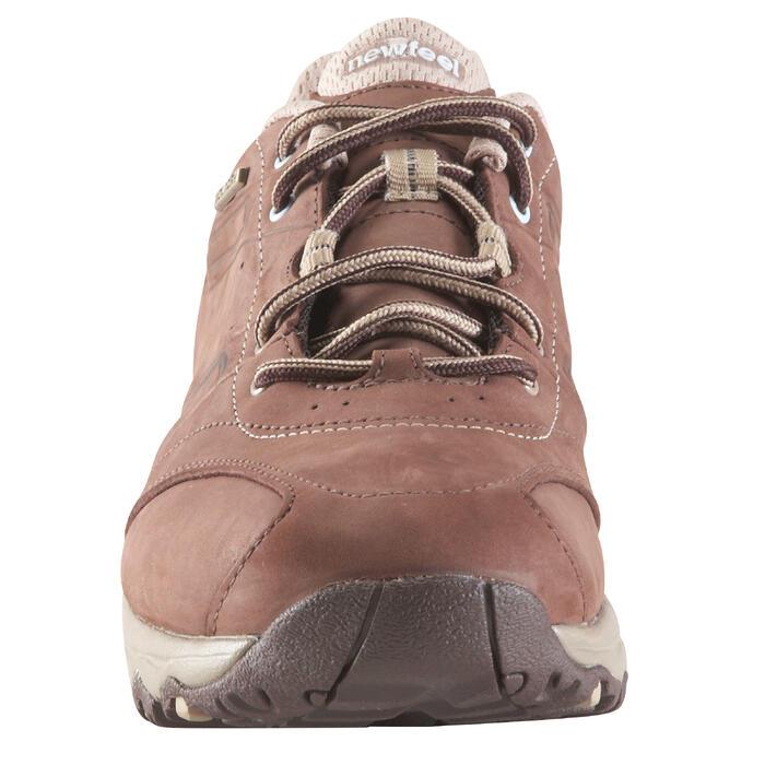 Chaussures marche sportive femme Nakuru Imperméable cuir marron / beige