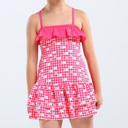 Hanae Girls' One-Piece Dress Swimsuit - Navy