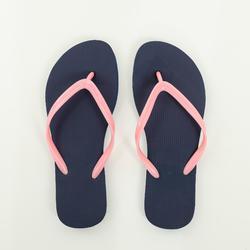 女款夾腳拖TO 100-藍色/珊瑚紅