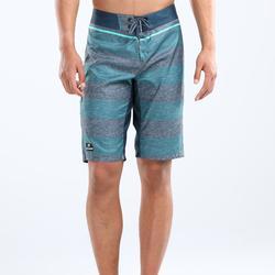 長版衝浪褲500-藍色條紋