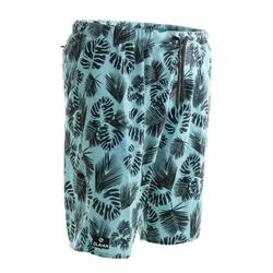100 Long Surfing Boardshorts - Flower Khaki