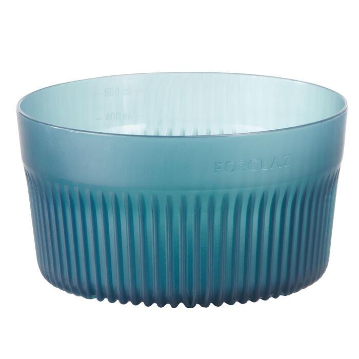 Kom voor bergtrekking TREK 500 plastic blauw 0,45 liter