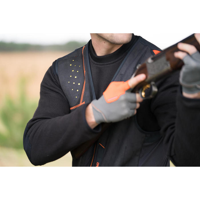 Beschermvest voor kleiduifschieten 900 zwart