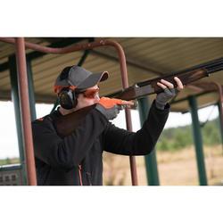 Beschermbril voor sportschieten en jacht rood glas