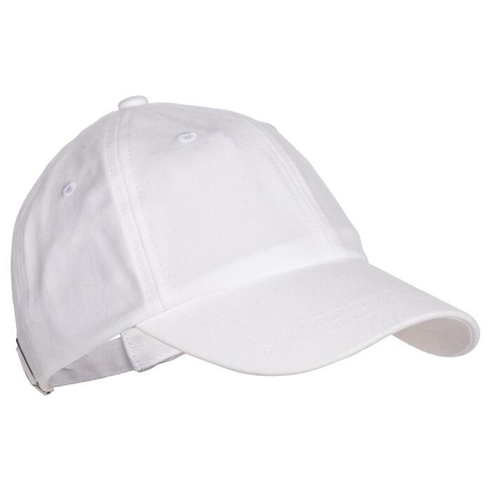 Gorra 500 gimnasia niña blanco estampado