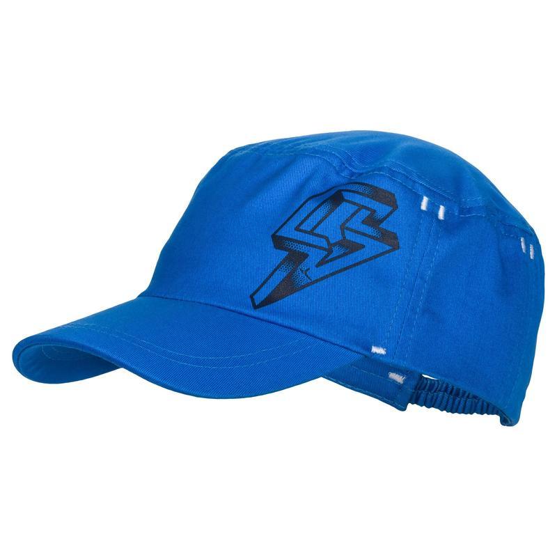 Gorra 500 de gimnasia infantil estampado azul  10870a0a7ad