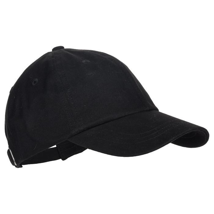 Gorra 500 de gimnasia niña negro estampado