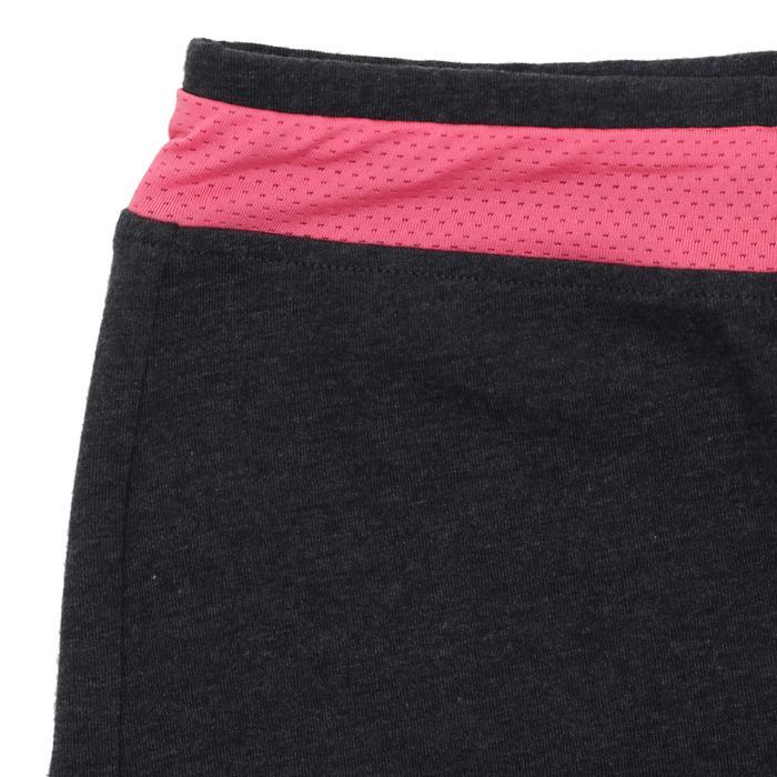 Short 500 gimnasia niña gris rosa estampado