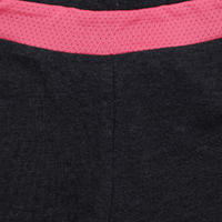 Short 500 gym fille imprimé gris rose