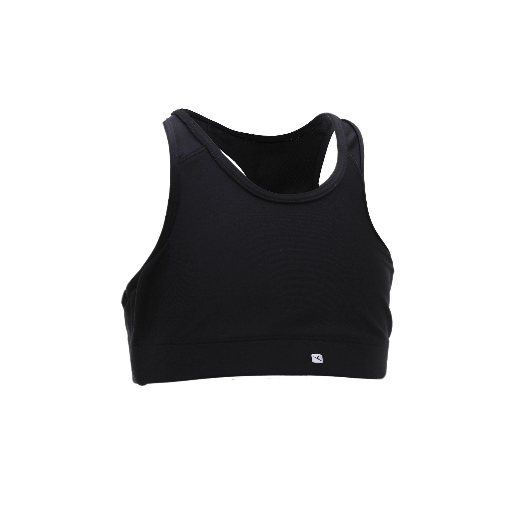 Domyos Gymtopje S900 voor meisjes zwart