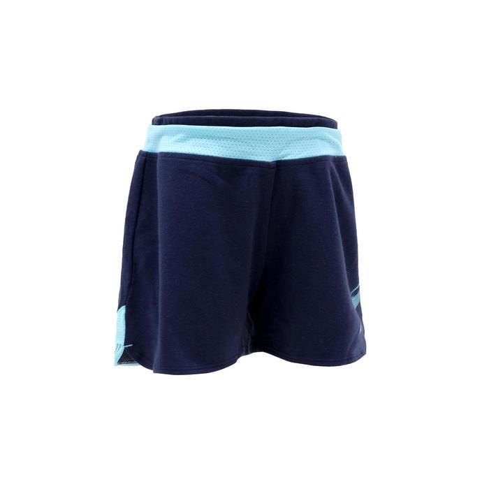 Short 500 gimnasia niña azul estampado