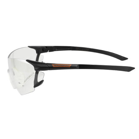 CLAY PIGEON SHOOTING PROTECTIVE GLASSES 100, PLAIN STRONG LENSES, CATEGORY 0