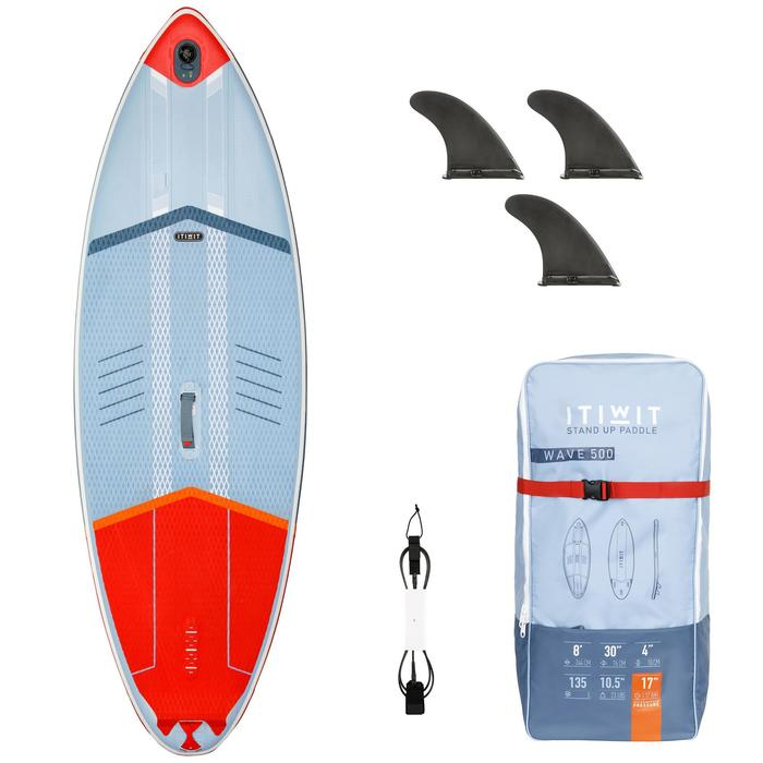 STAND UP PADDLE INFLABLE SURF 500 / 8' ROJO 135 L