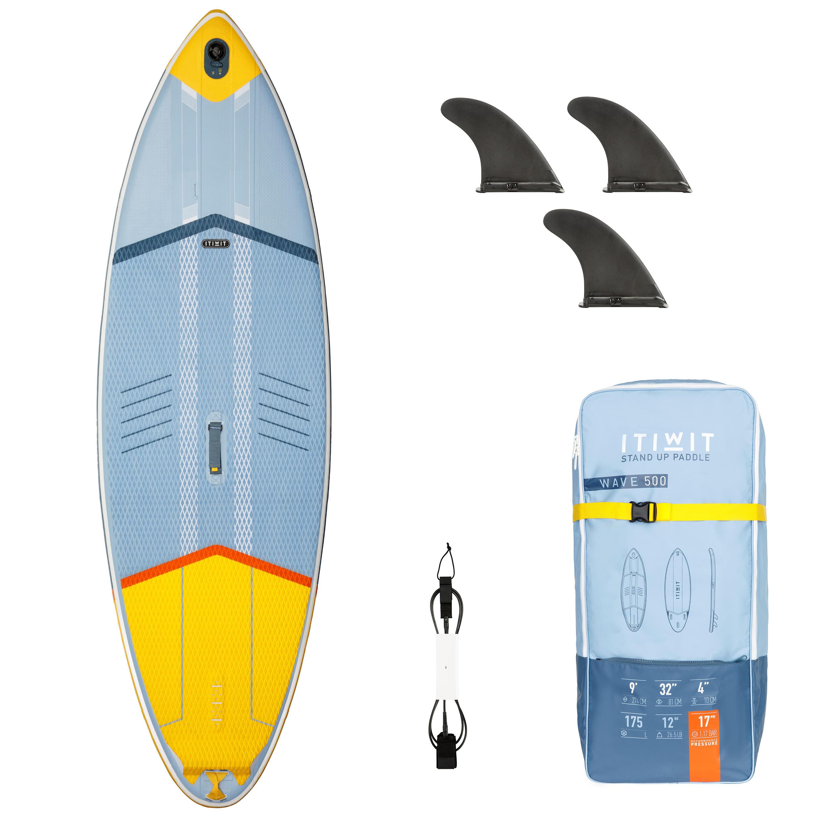 Itiwit Opblaasbaar wave supboard 500 - 9' geel 175 l