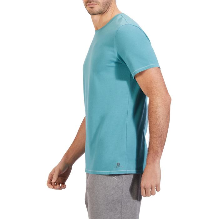 T-Shirt Gym 500 Regular Kurzarm Herren Fitness brittany blue