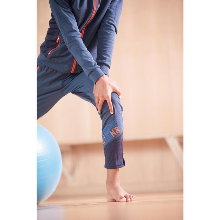 Pantalón slim S900 Gimnasia niño azul marino