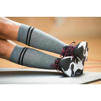 Gymsokken 500 voor meisjes grijs
