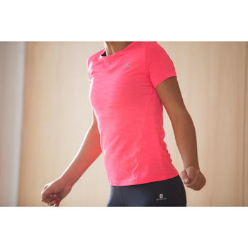 T-Shirt manches courtes S500 Gym Fille - 1335733