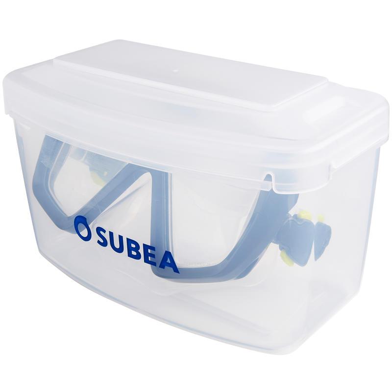 SCD 100 SCUBA Diving Mask translucent skirt and blue frame