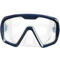 Masque de plongée bouteille SCD 100 jupe translucide et cerclage bleu