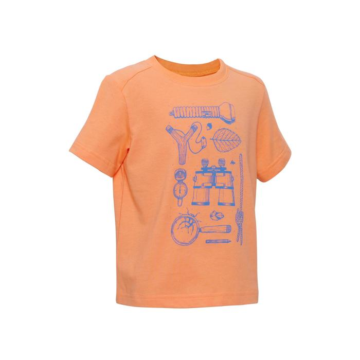 Hike 500 Children's Boy's Hiking T-Shirt – Blue - 1336003