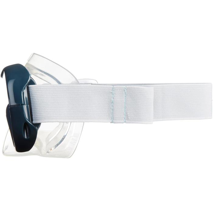 Duikbril voor snorkelen volwassenen en kinderen SNK 500 grijs