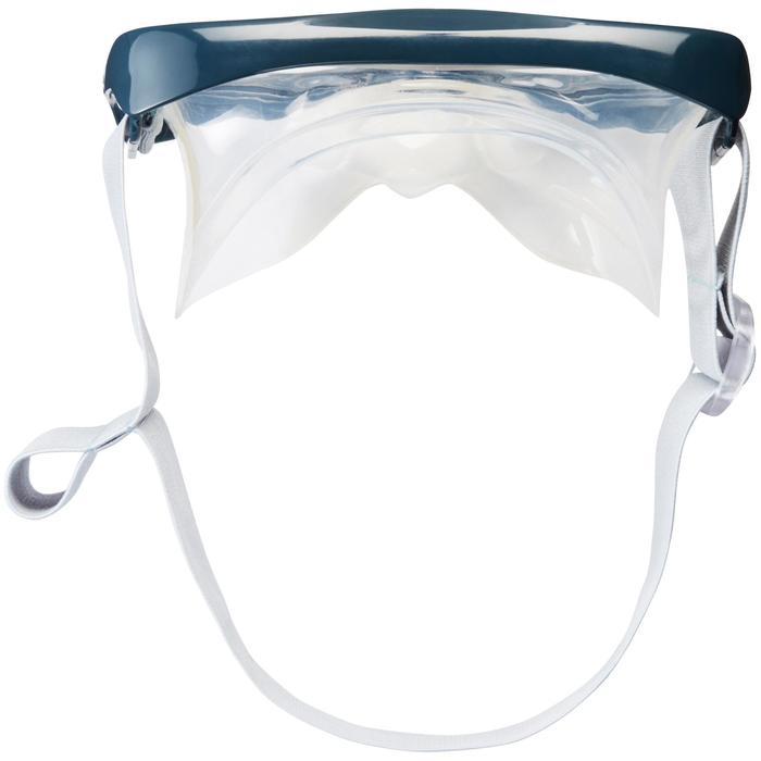 Máscara de buceo en apnea FRD100 gris para adultos